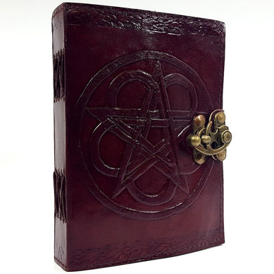 Leather Embossed Pentagram Spell Book