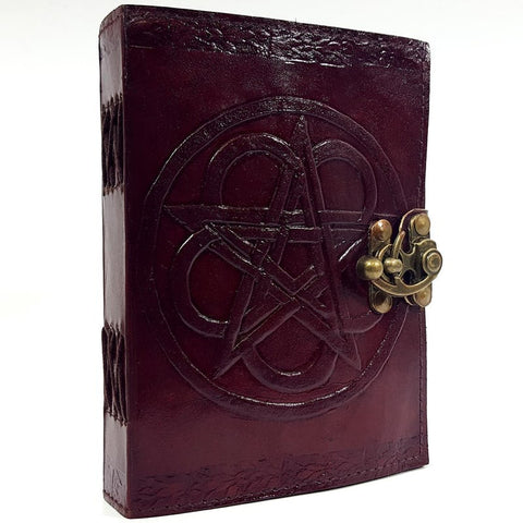 Leather Embossed Pentagram Spell Book Books £23.99 Wizarding Wares
