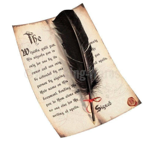 Magical Black Feather Quill Pen (Ballpoint) Pens £7.99 Wizarding Wares