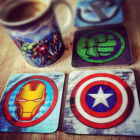 Marvel Avengers Officially Licensed Lenticular Coaster Set Coasters £7.49 Wizarding Wares