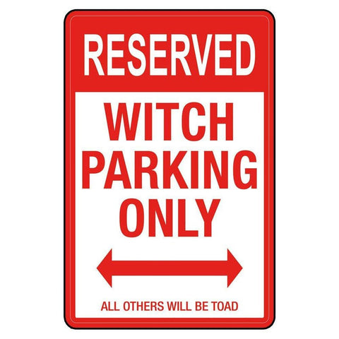 Metal Outdoor Weather Resistant Witch Parking Sign Signs £17.99 Wizarding Wares