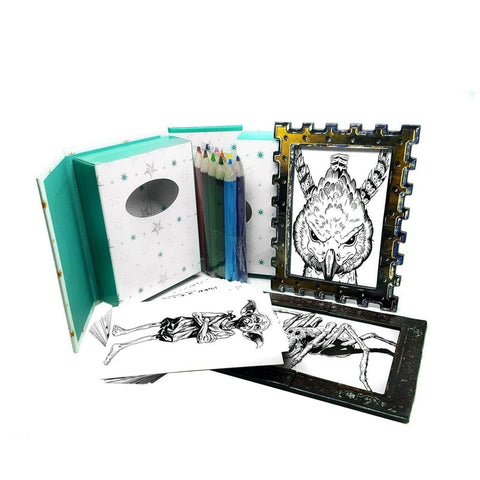 Miniature Harry Potter Officially Licensed Magical Creatures Colouring set with frames Pens £9.99 Wizarding Wares