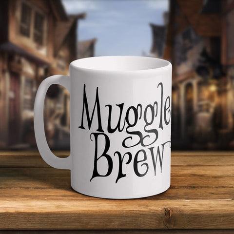 Muggle Brew 11oz White Ceramic Mug Mug £6.99 Wizarding Wares