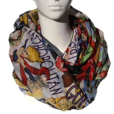 DC Comics Retro Style Fashion Scarf