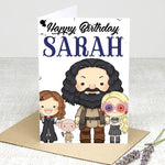 (Personalised) Character Happy Birthday Card Greeting Cards £2.99 Wizarding Wares