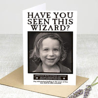 Personalised Greeting Card (Have you seen this wizard?) Greeting Cards £2.99 Wizarding Wares