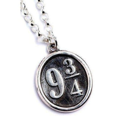 ( Platform 9¾ ) Harry Potter Solid Sterling (925) Silver Necklace