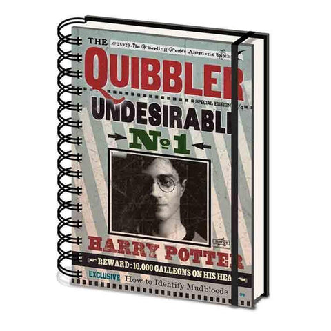 Quibbler Undesirable No1 Harry Potter Notebook (Lined) Books £4.99 Wizarding Wares