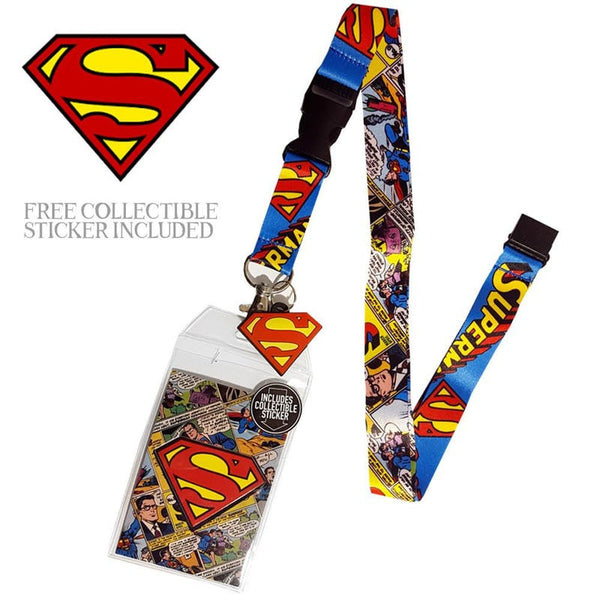 Superman Officially Licensed ID/Key Lanyard (Superman) Lanyards £7.99 Wizarding Wares