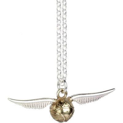 ( The Golden Quiddich Snitch ) Harry Potter Solid Sterling (925) Silver Necklace
