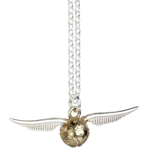 ( The Golden Quiddich Snitch )  Harry Potter Officially Licensed Solid Sterling (925) Silver Necklace Jewellery £89.99 Wizarding Wares