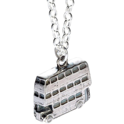( The Knight Bus ) Harry Potter Solid Sterling (925) Silver Necklace