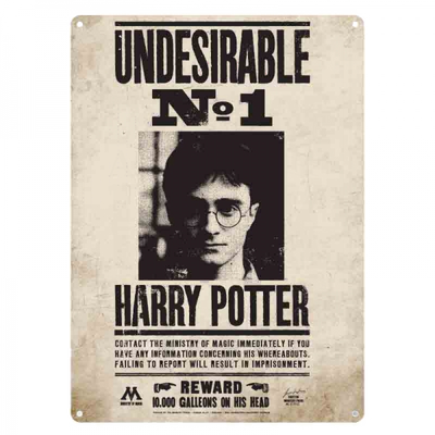 "Harry Potter Metal Sign ""Undesirable No#1"""