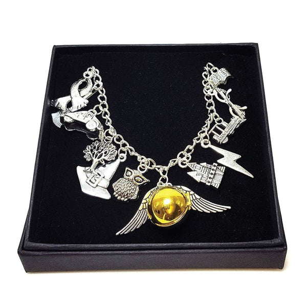 Witchcraft & Wizardry Charm Bracelet with Gift Box Charms £12.50 Wizarding Wares