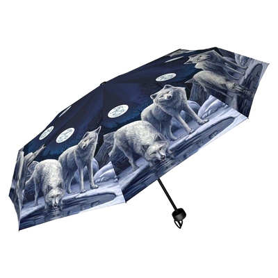 Warriors of Winter Wild Wolf Umbrella