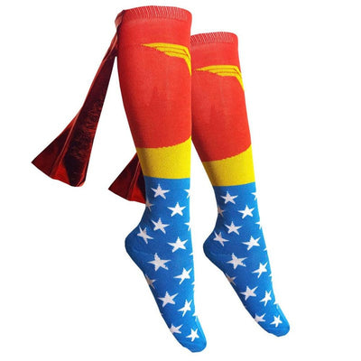 Wonder Woman Socks (With Capes)