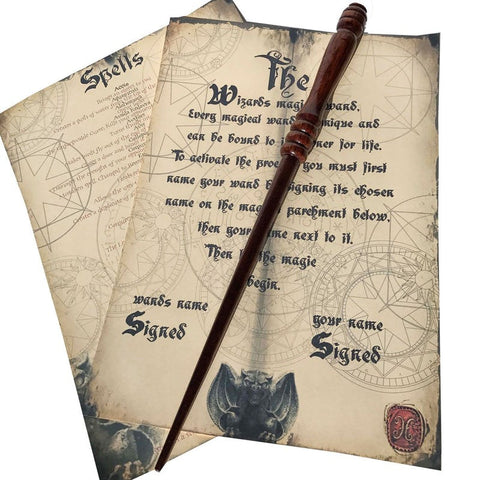 Wooden Hand Crafted Magic Wand (Solid Mahogany) + Extras Wand £14.99 Wizarding Wares