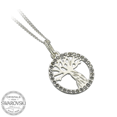 Swarovski (The Whomping Willow) Solid Sterling Silver Necklace