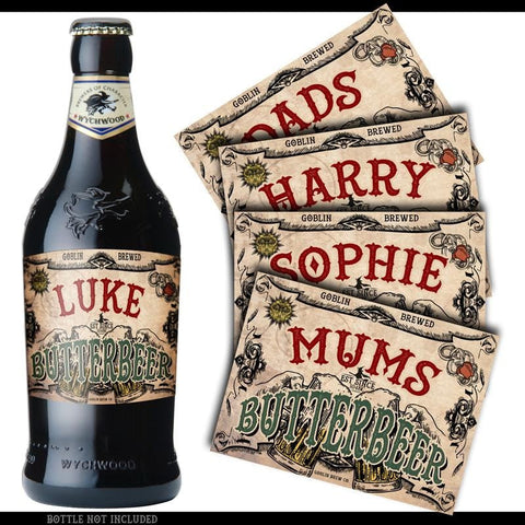 X5 Personalised ButterBeer Labels (new) Personalised Products £3.99 Wizarding Wares