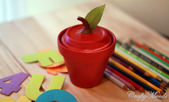 Apple Clay Jar - Teacher Appreciation Gift via Crafty Moods