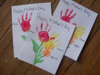 Mother's Day Handprint flower card
