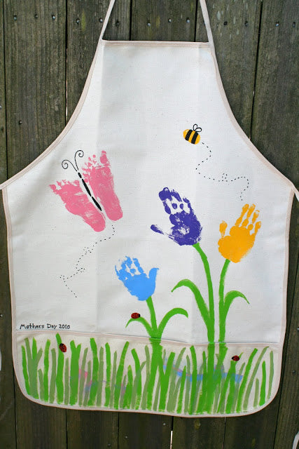 Mothers day handprint apron