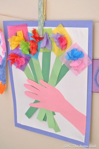 paper bouquet craft