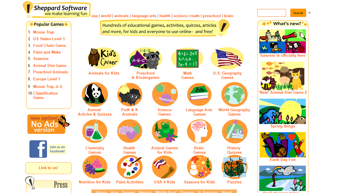 11 Websites For Fun Filled Free Educational Games - Trends and Me