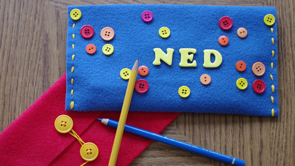 Back to School Felt Pencil Case