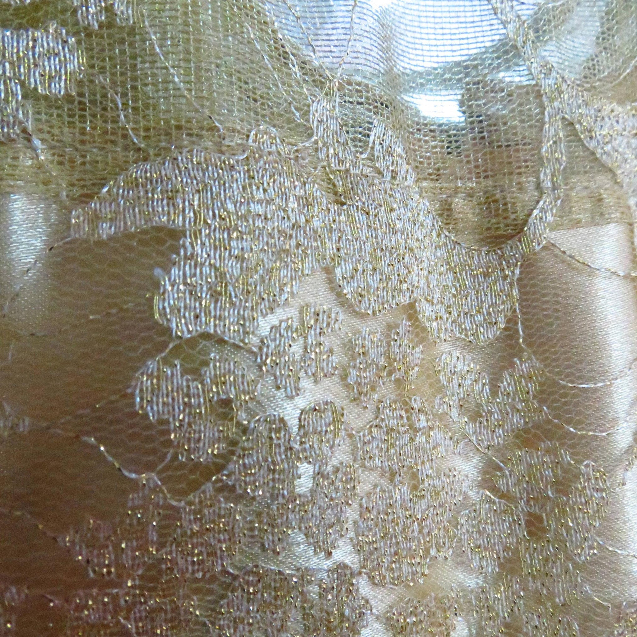 a42f2879e Golden Self Embroidered Net Dress - Trends and Me