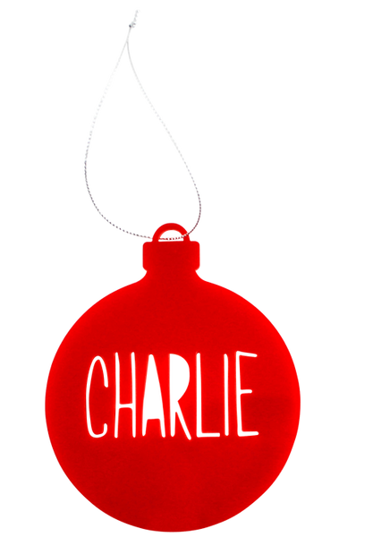 Customised Christmas Bauble - Red