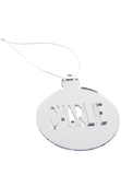 Customised Christmas Bauble - Silver