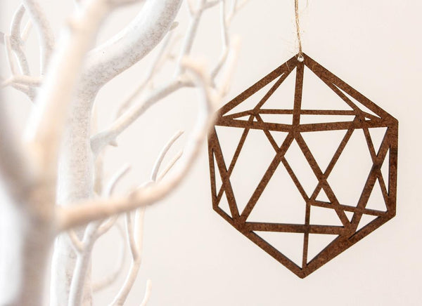 Geometric Prism Ornament - Pack of 4