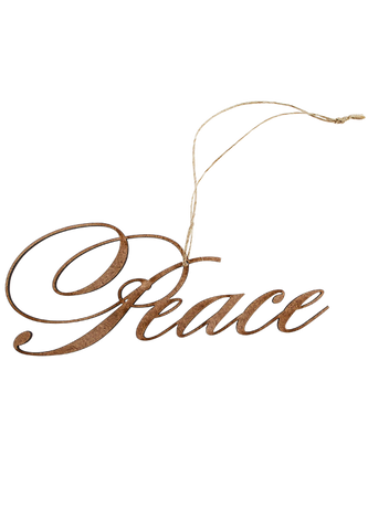 Wooden Peace Ornament