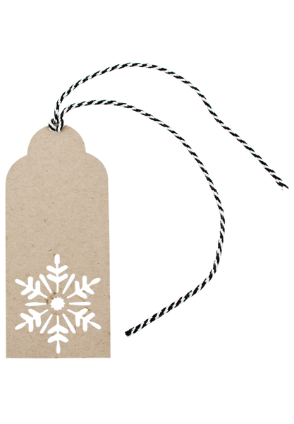 Snowflake Tags - Pack of 5
