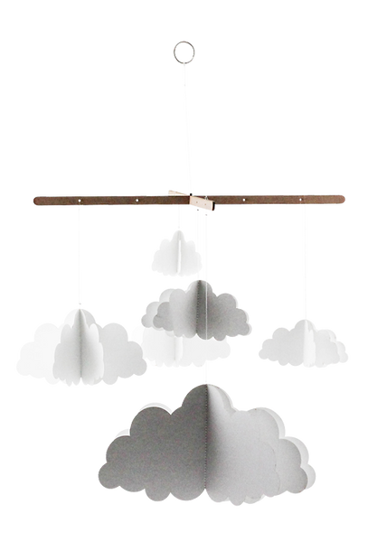 Paper Clouds Hanging Mobile