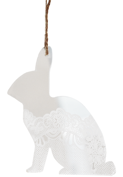 Lace Perspex Bunny