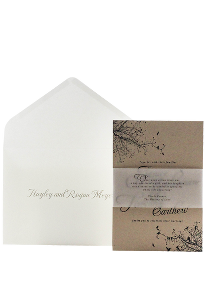 Autumn Air Invitation - Letter Pressed