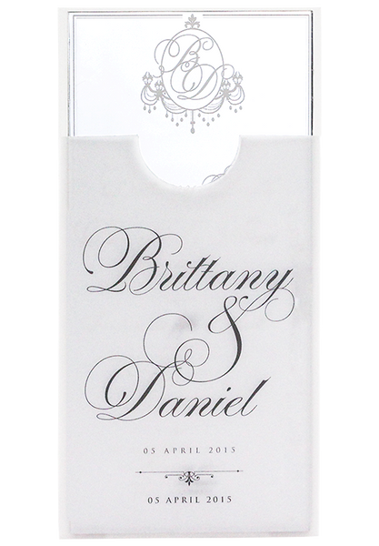 Brittany Invitation - Perspex