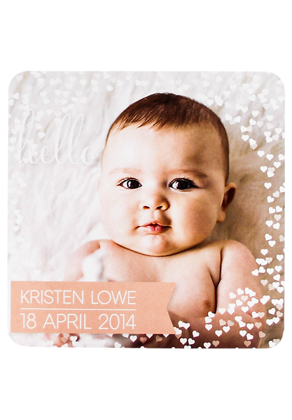 Hello Love Birth Annoucement Card