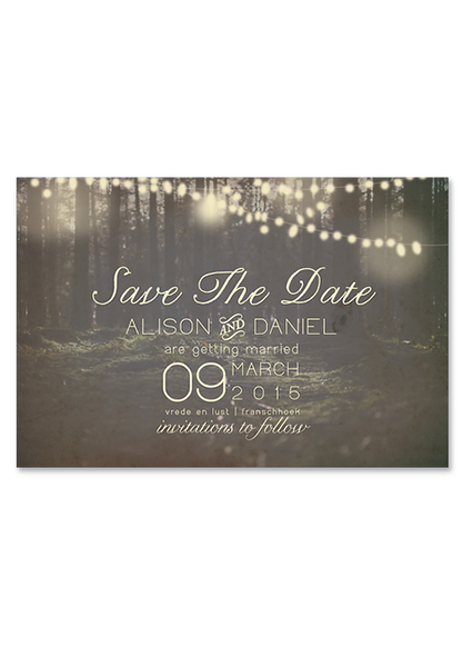 Enchanted Lights Digital Save the Date