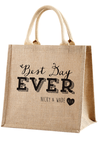 Best Day Ever Shopper Bag- Doodle Edition