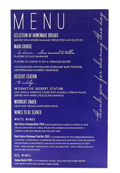 Atlantis Menu
