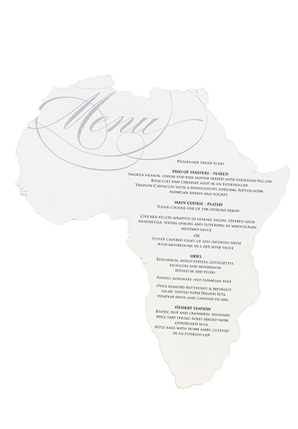 Absolute Africa Menu