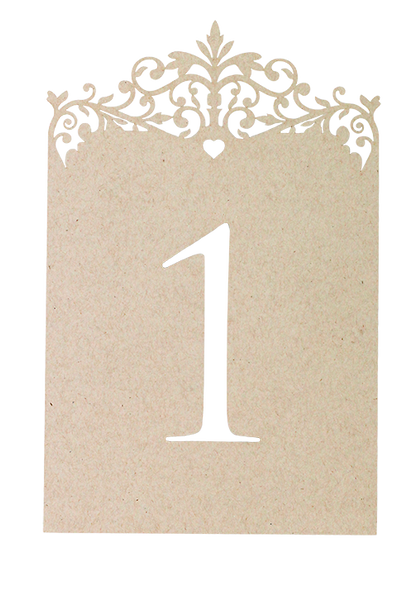 Palace Garden Table Number - Kraft Paper