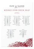 Bordeaux Seating Chart Canvas