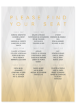 Geo Ombre Seating Chart Canvas