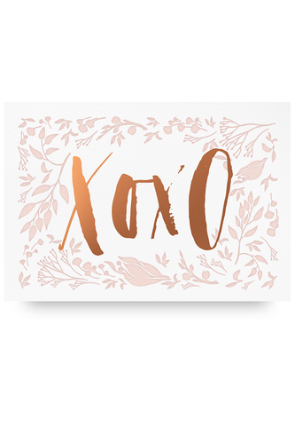 XOXO letter Pressed Card