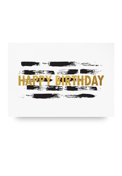 Happy Birthday Letter Pressed Card
