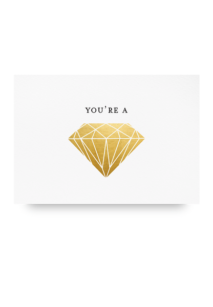 You're a Gem Letter Pressed Card